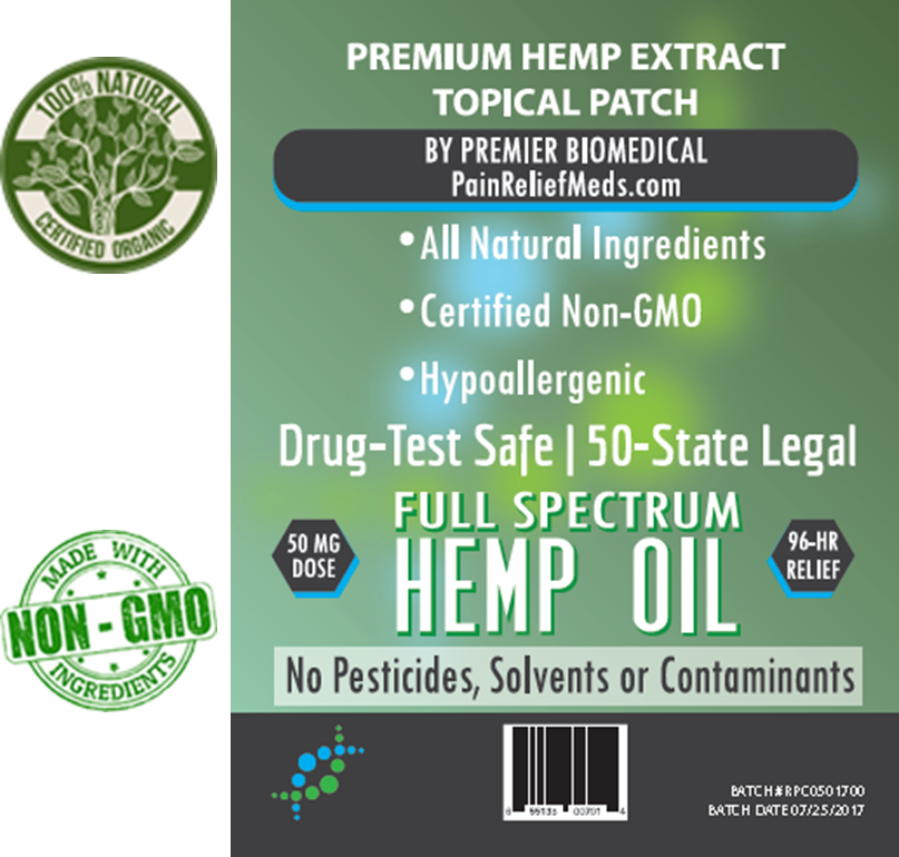 New Hemp Oil Patch Label with medallions