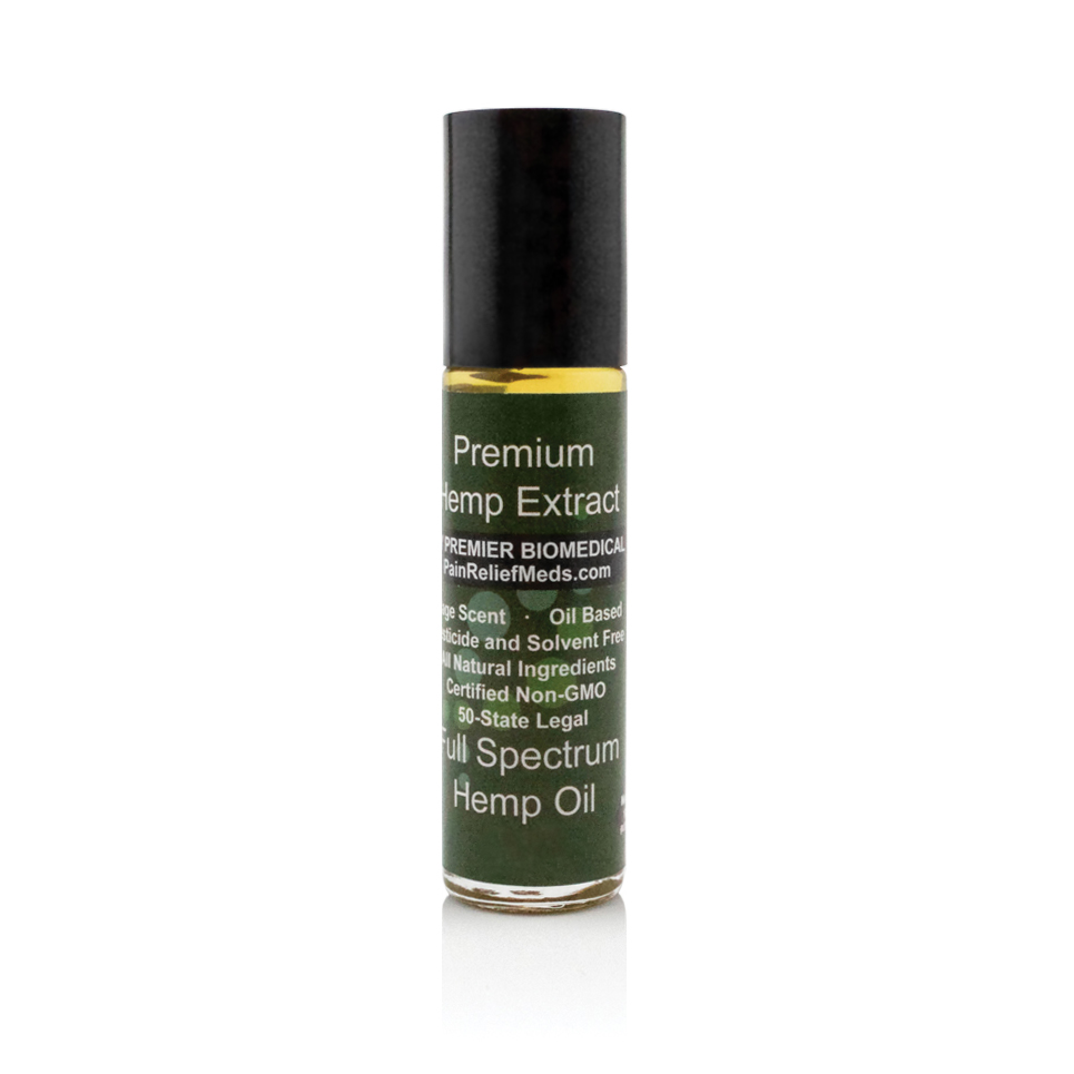 Hemp Extracts Topical Roll-On Applicator 150 mg, 10 ml, Oil-Based